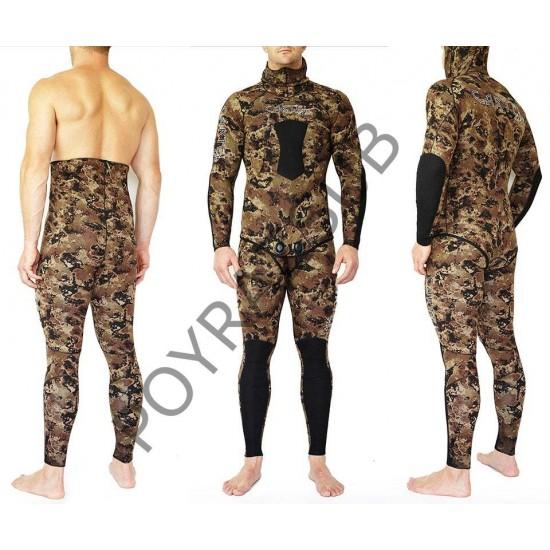 Cartel Dive Bayan 3 mm Brown Dalış Kıyafeti